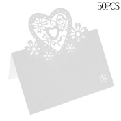 CHIC*MALL Paper Love Heart Cards Table Name Place Cards Wedding Party Decorations