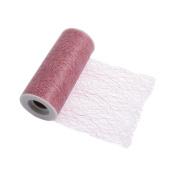 S & W Bridal R422DTPK | Mesh Tulle | 10m x 15cm | Dusky Pink | Polyester