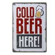 HAPPYQUDA Retro Poster Metal Tin Sign Plaque Pub Bar Cafe Wall Decor Beer