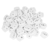 40 Pcs Dual Hole Cord Locks Ends for Clothing Backpack Drawstring Shoelaces