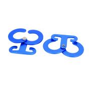 Unique Bargains Outdoor Accessories Aluminium Alloy Self-Lock Tent Rope Cord Adjuster Blue 2pcs
