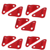 Unique Bargains Triangle Rope Buckle Guyline Cord Adjuster Red 10pcs for Tent Camping Hiking