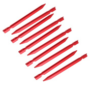 Unique Bargains 10pcs 18cm Length Aluminium Alloy Tri-Beam Tent Stakes Red for Camping Hiking