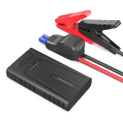 Car Jump Starter RAVPower 10000mAh 400A Peak with Intelligent Protection Device for up to 3L Gasoline Engines, Booster Battery Pack 2.4A Max iSmart 2.0 Output USB Ports, Built-In SOS LED Flashlight