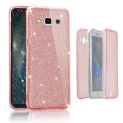 Galaxy A5 2015 Bling Case, Vandot Practical Shockproof Ultra Thin Soft TPU Silicone Front and Back Full Body 360 Degree Protective Case For Galaxy A5 2015, Drop-Resistant Slim Fit Flexible Full Coverage Cover for Samsung Galaxy A5 A5000 2015 - Sparkly ..