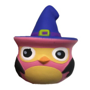 VNEIRW Owl With Hat Scented Squishies Slow Rising Baby Toys Squeeze Soft Toys Stress Relief Toys
