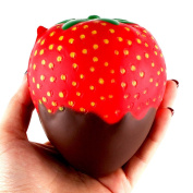 Hotsellhome Jumbo Strawberry Squishies Scented Squishy Slow Rising Decompression Soft Toy Kids Adult Squeeze Toys Collection Gift