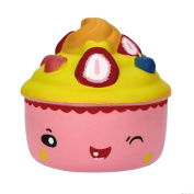 VNEIRW Cute Cake Jumbo Scented Squishies Slow Rising Baby Toys Squeeze Soft Toys Stress Relief Toys