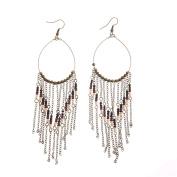 Small Round Beads Tassel Earrings