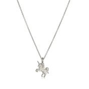 Prochive Women Girls Unicorn Pendant Alloy Chain Fashion Necklace Clavicle Jewellery Accessories Gift Charm Necklace, Silver