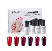 6 Color Series 8ML UV Gel Varnish Nail Polish Set Gel Semi Permanent Gel Polish DIY Nail Art Kits Red