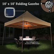 Sunrise Outdoor LTD Solar LED Light 3m W x 3m D Steel Pop-Up Party Tent