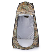 Camouflage Portable Outdoor Waterproof Easy Open 180T Tent Camping Beach Shower Changing Room Foldable With Bag Camouflage