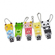 Cartoon Animals Style Stainless Steel Manicure Care Nail Cutter Nail Clipper Pedicure Trimmer Scissors Color Random