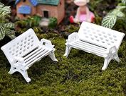 ningteng Mini Fashion White Mini Park Seat Bench Garden Garden Ornaments