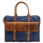Portable Computer Bag Canvas Men Satchel Bag Casual Bag,Blue