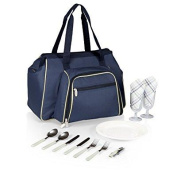 picnic time 'toluca' insulated cooler tote, navy