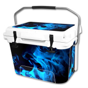 Skin Decal Wrap for RTIC 18.9l Cooler cover sticker Blue Flames