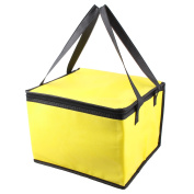 Picnic Travel Yellow Square Thermal Food Holder Cooler Storage Box Carry Tote Bag