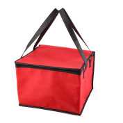 Picnic Travel Red Square Thermal Food Holder Cooler Storage Box Carry Tote Bag