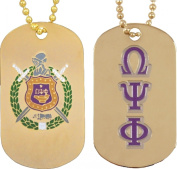 Omega Psi Phi Double Sided Dog Tag [Gold]