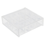 Household Acrylic Square Shaped Jewellery Makeup Necklace Box Organiser Clear
