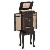 Bowery Hill Jewellery Armoire in Espresso