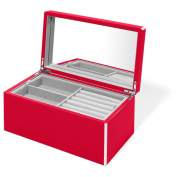 Elle Lacquer Jewellery Box Cherry Red