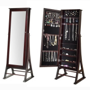 Alcott Hill Fleming Eiffel Free Standing Jewellery Armoire with Mirror