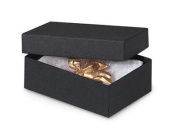 1 Unit 3x2-1/8x1 Black Kraft Jewellery Box Unit pack 100