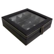 Bey-Berk 20 Pocket Cufflink Box