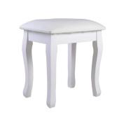 Organizedlife Dressing Stool Vanity Makeup Stool with Cushion Piano Seat Soild Legs White