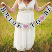 Uminilife 3 M Bride To Be Paper Banner Garlands Wedding Decoration Party Bunting Events Supplies