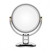 Auxmir Makeup Mirror with 1X / 10X Magnification Double-Sided Vanity Mirror Cosmetic Mirror with 360 degree Rotation for make-up, shaving and facial care