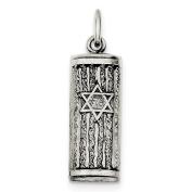 Versil Sterling Silver Antiqued Mezuzah Pendant