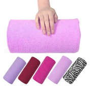 Nail Cushion Manicure Pillow Rest Arm Rest Soft Pillow Nail Art Design 13 X 28CM Soft Decoration for Woman by Beauty DIY Mart, Pink