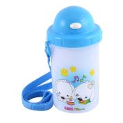 Cartoon Dog Pattern Camping Drinking Cup Tea Water Bottle 500ML Blue