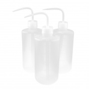 Unique Bargains 3pcs Clear Plastic Bent Tip Oil Liquid Squeeze Bottle Holder 500ml