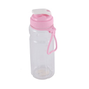 Portable Exercise Camping Drinking Cup Tea Water Bottle 600ML Pink