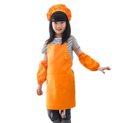 Chytaii Apron Kids Cooking Children Boys Girls Apron for Painting Cooking Class Apron Chef Hat and Sleeves