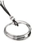 Ladies Womens Lagenlook Quirky Large Chunky Circular Ring Statement Chain Strand Pendant Fashion Dress Gift Jewellery Necklace