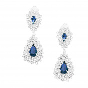 Jewellery Ant Hony Evening Wedding Bridal long earrings – clear crystal – 5.5 cm Long