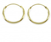 Hoop Earrings 15 mm from 333 gold