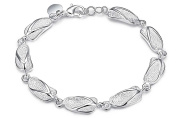 "8"" or 19cm Silver Plated Polished Slipper Shoes Chain Bracelets Jewellery Present Gift"