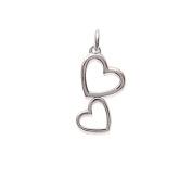 Tata Gisele© Double Heart Pendant Silver 925/000 Silver – 21 mm