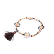 La Modeuse – Stretch Bracelet with Sparkling Beads of different sizes