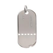 Tata Gisele© Military Dog Tag Pendant Silver 925/000 Silver Plate – 44 mm