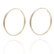 La Modeuse – 3 rings earrings with textured detail