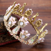 Bride full circle crown alloy crystal crown wedding accessories hair accessories