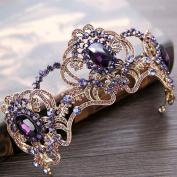 Bridal Crown Crystal Rhinestone purple Headband Wedding Accessories Hair Accessories